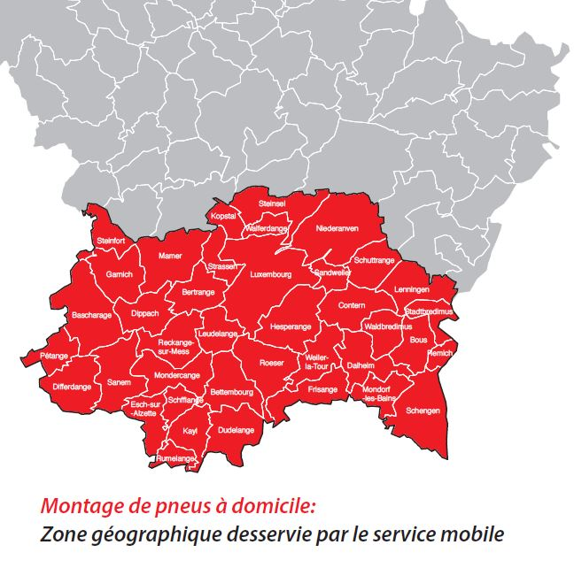 Zone desservie par Service Mobile