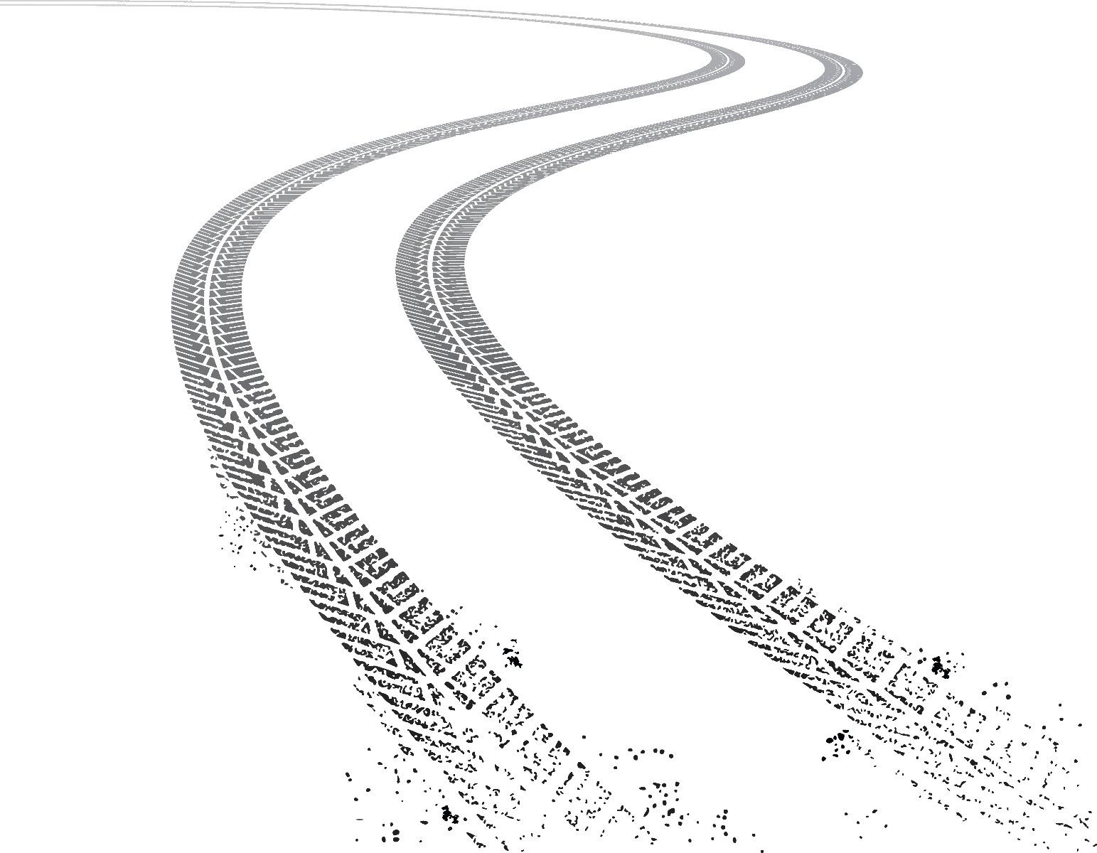 trace freinage sur route